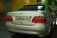 Спойлер на стекло Mercedes w208